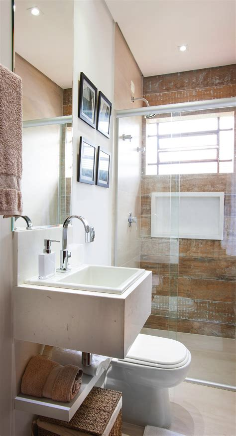 banheiro pequeno decorado e organizado leroy merlin - Banheiro Decorado Muito Pequeno