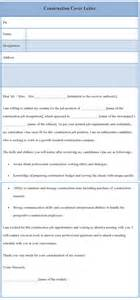 cover letter template for construction sle of