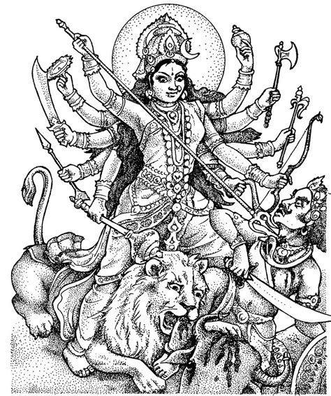 goddess of color diwali coloring pages