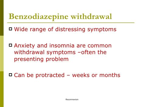 Benzodiazepine Withdrawal Detox by Druginfo Seminar Benzodiazepines And The Generation