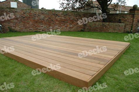 decks co uk garden decking kit 3 0m x 4 5m hardwood ipe deck kit no