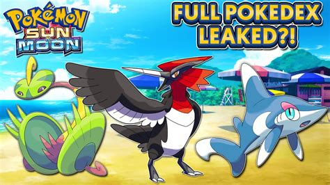 ultra sun and ultra moon leaks pokedex serebii events guide unofficial books pok 233 mon sun moon pok 233 dex leaked speculation