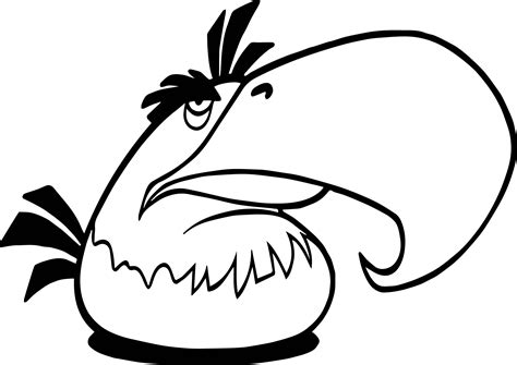 parrot angry birds coloring page wecoloringpage