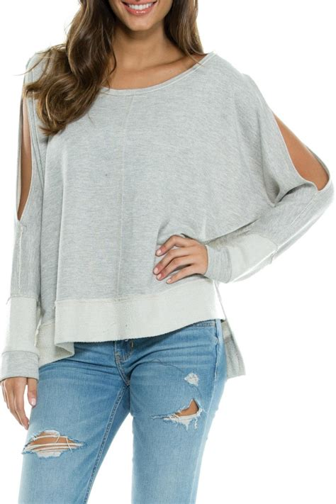 Cold Shoulder Sweatshirt elan usa cold shoulder sweatshirt from mississippi by bay