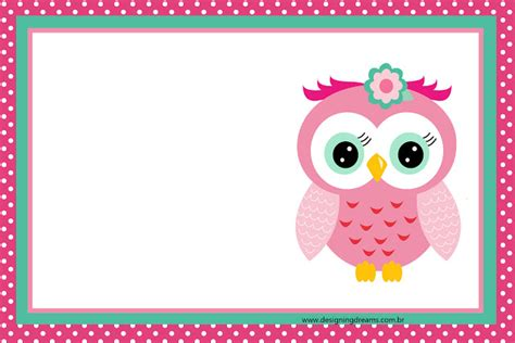 free printable owl invitations templates 15 a 241 os con buhita rosa invitaciones y etiquetas para