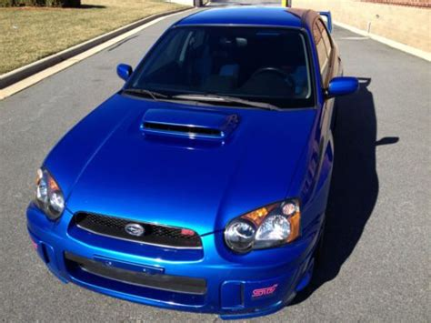 blue subaru gold rims buy used 2005 subaru impreza wrx sti sedan blue with gold