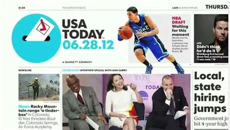 usa today travel section usa today s new look even more eye candy the wire