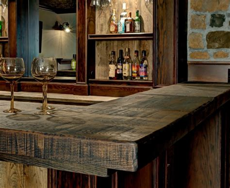 bar top ideas basement baroque bar top rustic basement