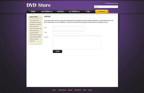 dvd online store template free ecommerce website