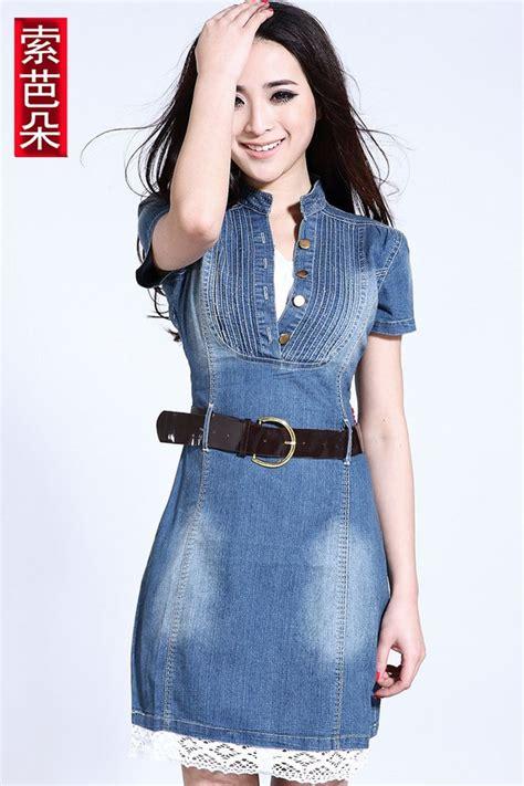 imagenes modelos de falda jean las 25 mejores ideas sobre vestidos camiseros de mezclilla