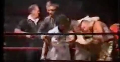 embarrassing wrestling moments most embarrassing moment for boxer as mom gets in ring to