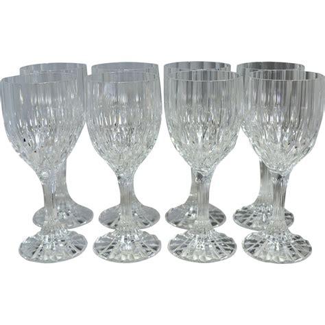 lead crystal barware set of 8 lead crystal fluted diamond cut wine glasses from