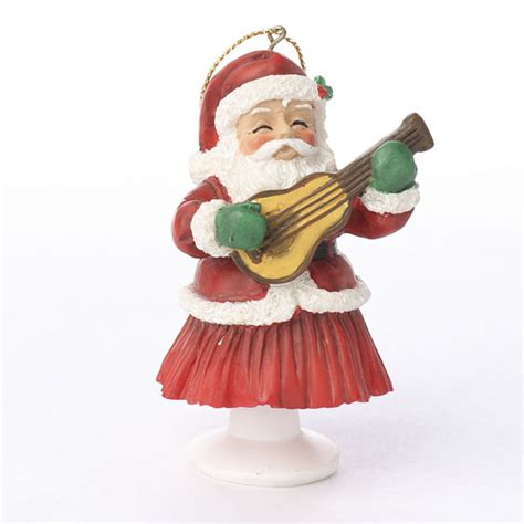 hawaiian santa claus bobble ornament christmas ornaments