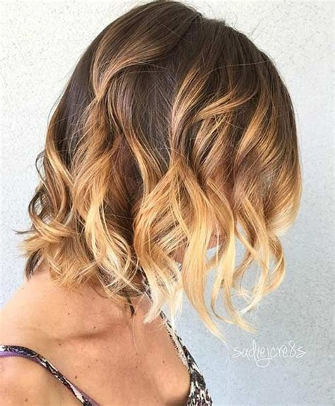 caramel and blondebob styles golden blonde balayage highlights