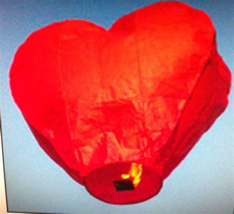 lanterne volanti a forma di cuore lanterne volanti cuore
