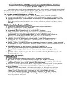 Professional Contract Template by Doc 12751650 Professional Athlete Contract Template