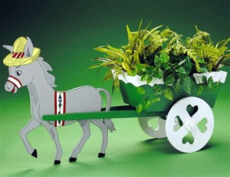 donkey cart planter vintage woodworking plan
