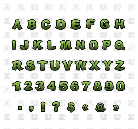 Font Green green mutant font vector image 132191 rfclipart
