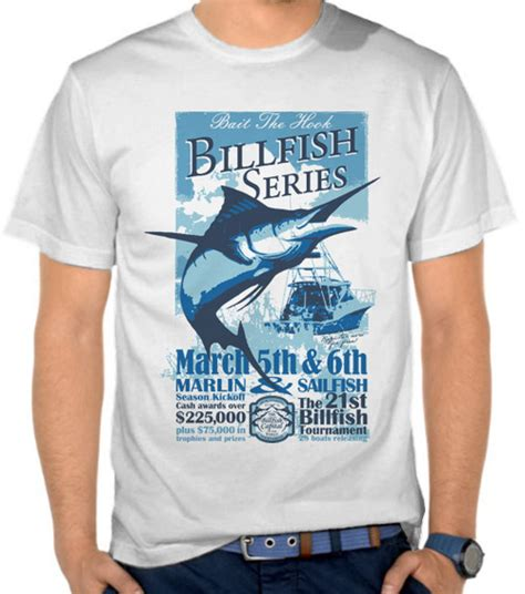 Kaos Distro Muppin Hook 3 jual kaos memancing ikan marlin mancing fishing