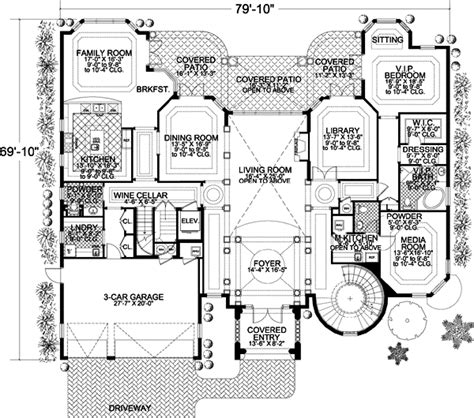 italian home plans italian house plan 6 bedrooms 5 bath 8441 sq ft plan