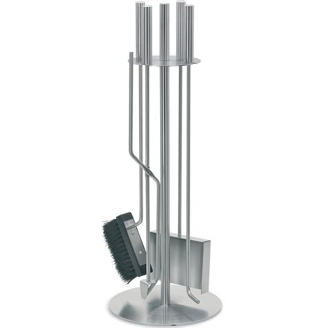 stainless steel fireplace tool set in fireplace screens