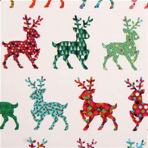 pattern for fabric reindeer white reindeer christmas fabric andover usa kawaii