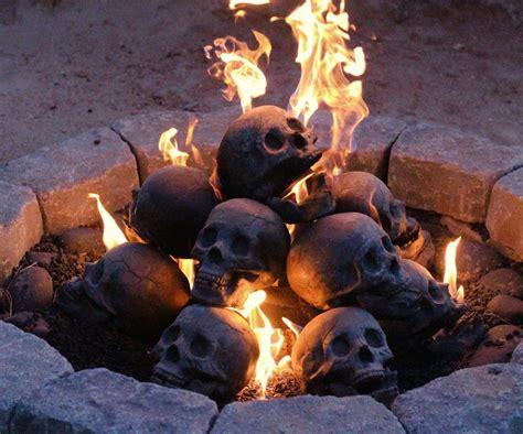 gas fireplace logs skull gas fireplace logs dudeiwantthat