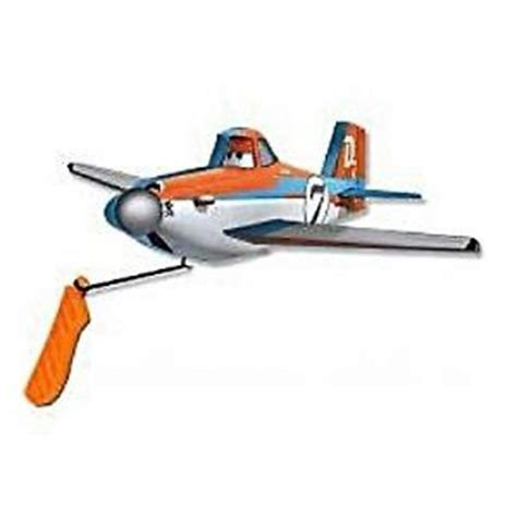 Micro Foam Flyer Dusty disney pixar planes foam flyers flying plane with launcher dusty crophopper