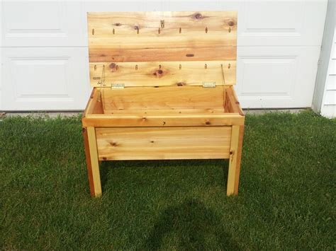 bench chest storage custom deck bench storage chest by cabin creations