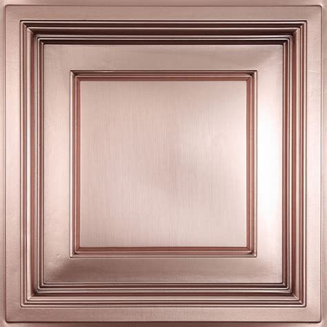 Copper Ceiling Tiles Home Depot by Ceilume Faux Copper Coffered Ceiling Tile 2