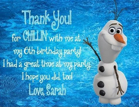 printable olaf birthday card 1000 images about birthday thank you cards on pinterest