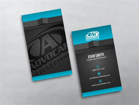free advocare business card template advocare business card 34