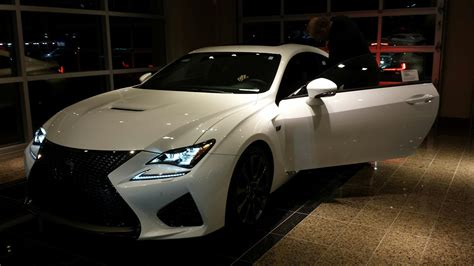 new lexus rcf my new rcf white with circuit red club lexus forums