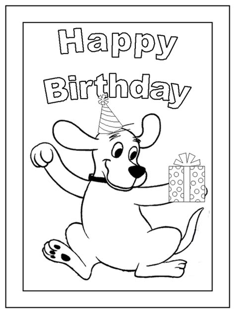 puppy birthday coloring page ultimate clifford pictures clipart posters