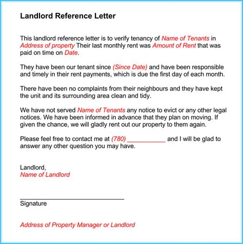 landlord reference form template landlord reference letter 5 sles what is it how