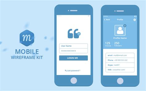 Mobile Wireframe Kit Free Psd Psdexplorer Mobile App Wireframe Template