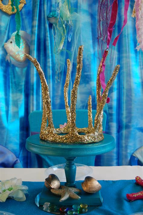 mermaid table setting    party