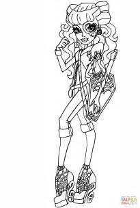monster high operetta coloring pages monster high operetta coloring page free printable