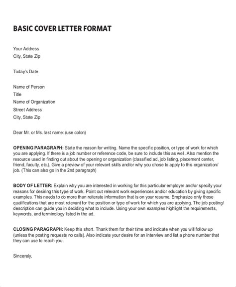 sample resume cover letter formats ms word
