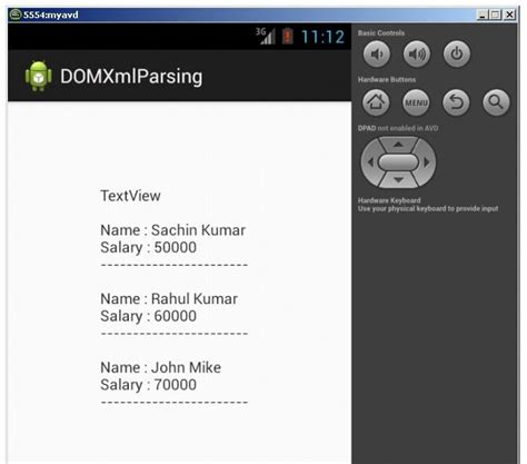 xml tutorial javatpoint android xml parsing using dom parser javatpoint