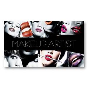 makeup artist business cards templates makeup artist cosmetologist salon business card