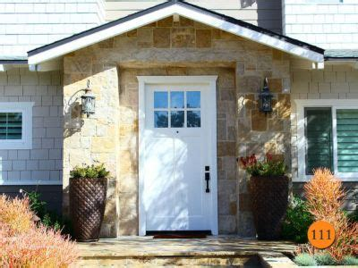craftsman style single fiberglass entry door