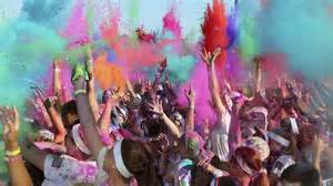color run paint runners pelted with paint in sydney color run cbbc newsround