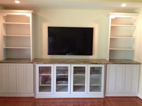 tv built in hand crafted built in tv wall unit by natural woodworks
