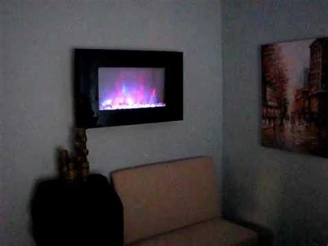 verona color changing electric fireplace heater