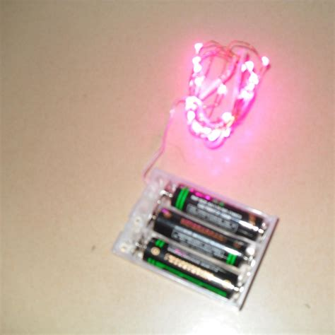 sell led silver wrie string light with 3a batteries pack