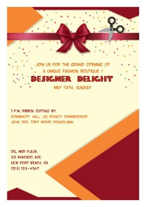 grand opening card template free flyer templates pageprodigy