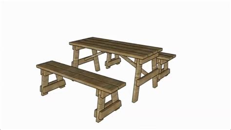 how to build a picnic table with separate benches picnic table with separate benches plans youtube