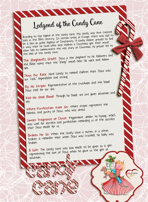 printable  candy cane legend bible journal love