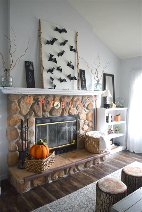 100 monochrome home decor home tour decorate with leaf string and bat wall art a two for one fall decor